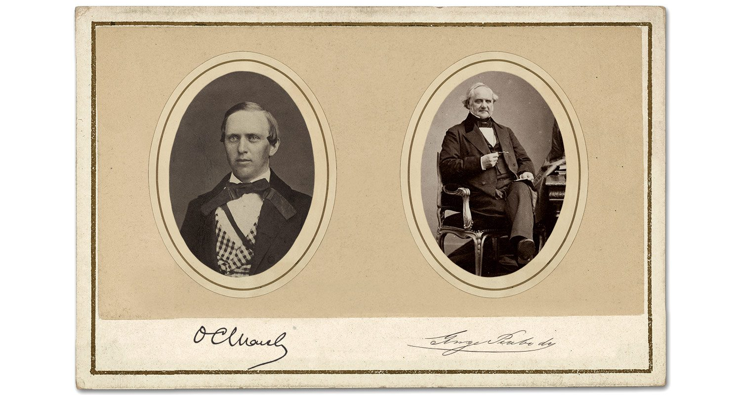 1866 - O.C. Marsh and George Peabody
