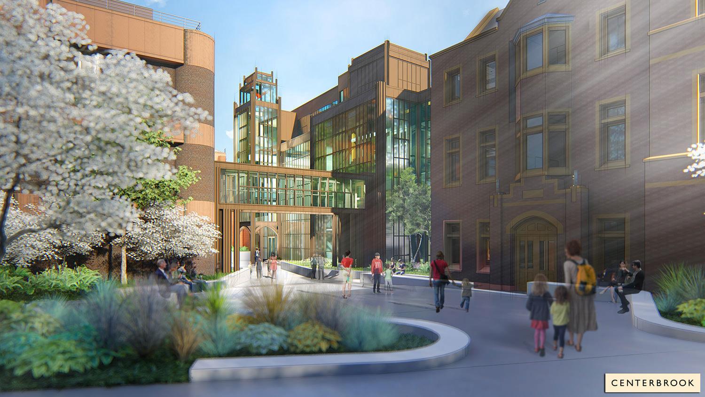 Terrace – Yale Science Building Entrance