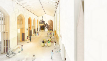 Interior: Central Gallery in New Addition