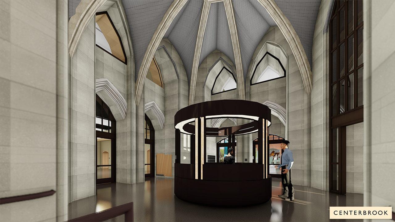 Rendering of Museum Lobby