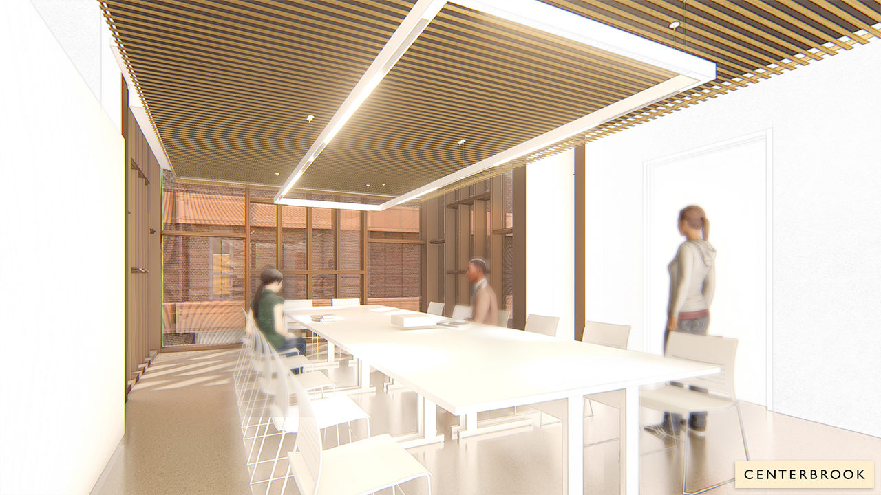 Rendering of classroom space in the new Museum